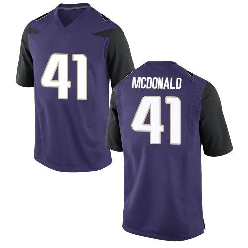 Men's Nike Cooper McDonald Washington Huskies Game Purple Football College Jersey