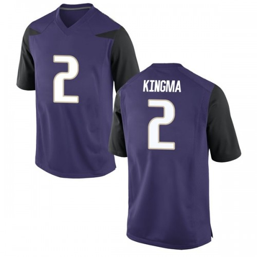 Men's Nike Dan Kingma Washington Huskies Game Purple Football College Jersey