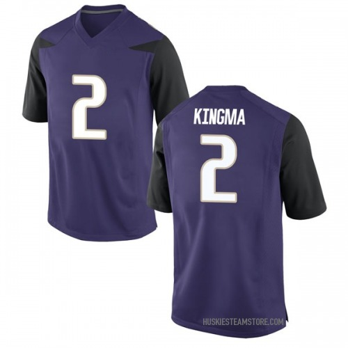 Men's Nike Dan Kingma Washington Huskies Replica Purple Football College Jersey