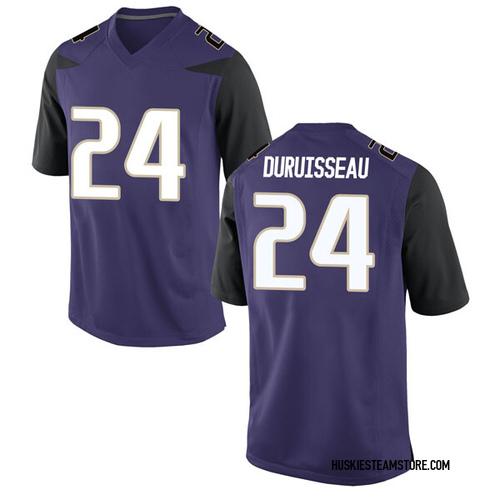 Men's Nike Devenir Duruisseau Washington Huskies Replica Purple Football College Jersey