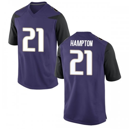 Men's Nike Dominique Hampton Washington Huskies Game Purple Football College Jersey