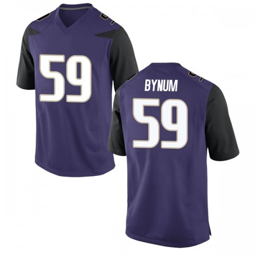 Men's Nike Draco Bynum Washington Huskies Game Purple Football College Jersey