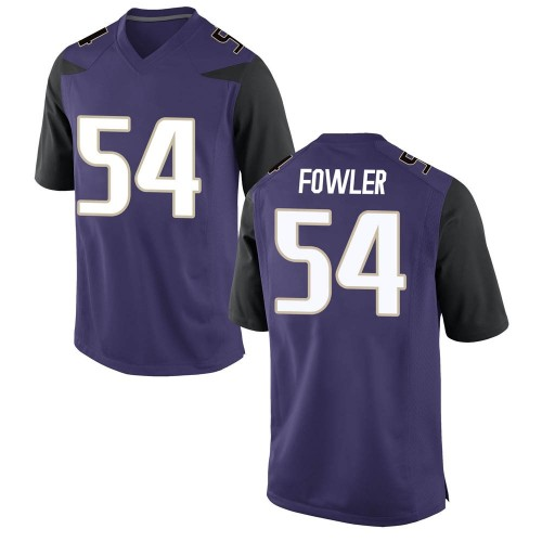 Men's Nike Drew Fowler Washington Huskies Game Purple Football College Jersey