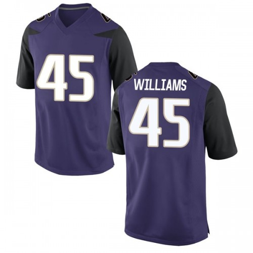 Men's Nike Dylan Williams Washington Huskies Game Purple Football College Jersey