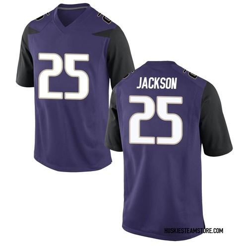 Men's Nike Elijah Jackson Washington Huskies Game Purple Football College Jersey