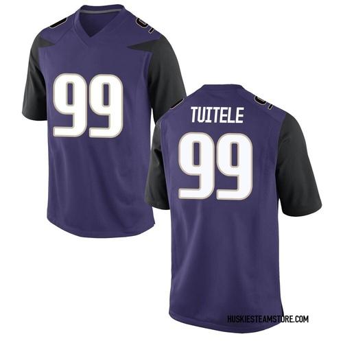 Men's Nike Faatui Tuitele Washington Huskies Game Purple Football College Jersey