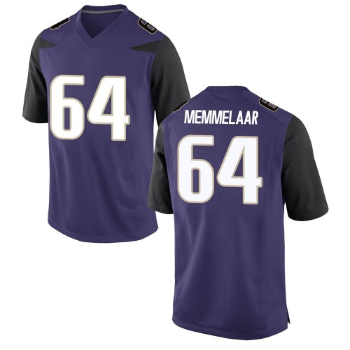 Men's Nike Gaard Memmelaar Washington Huskies Game Purple Football College Jersey