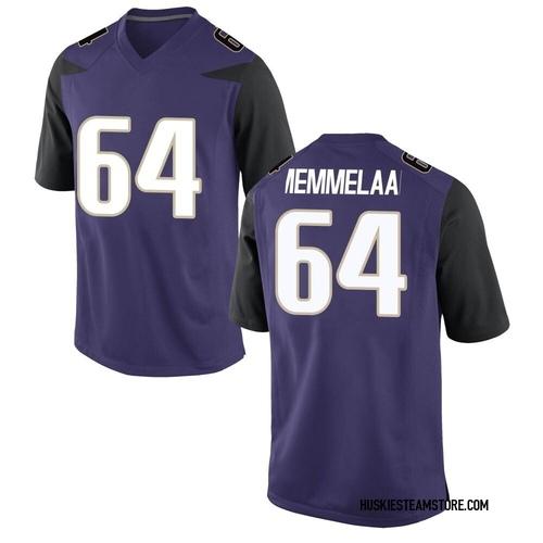 Men's Nike Gaard Memmelaar Washington Huskies Replica Purple Football College Jersey