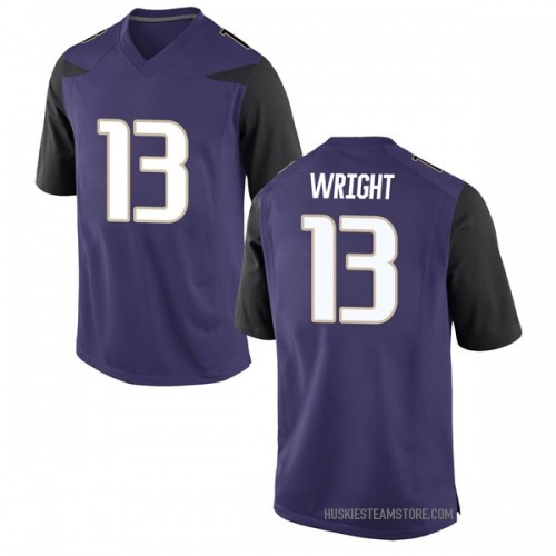 Men's Nike Hameir Wright Washington Huskies Replica Purple Football College Jersey