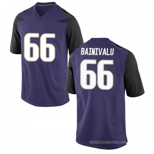 Men's Nike Henry Bainivalu Washington Huskies Replica Purple Football College Jersey