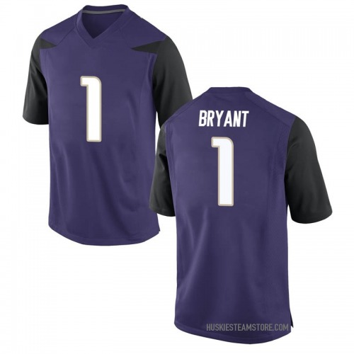Men's Nike Hunter Bryant Washington Huskies Replica Purple Football College Jersey