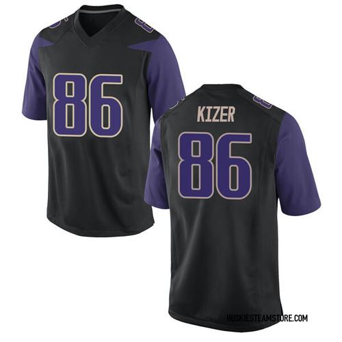 Men's Nike Jacob Kizer Washington Huskies Game Black Football College Jersey