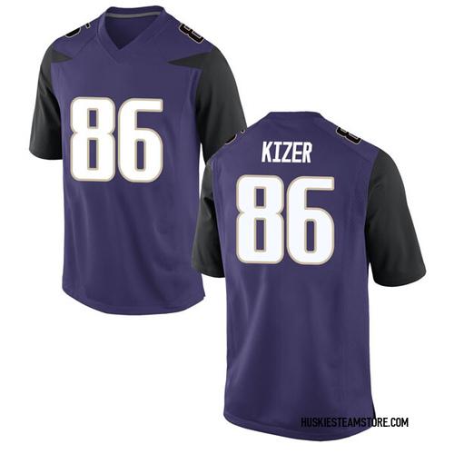 Men's Nike Jacob Kizer Washington Huskies Game Purple Football College Jersey