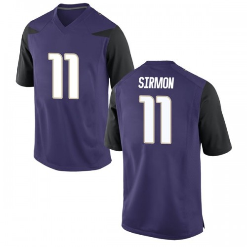 Men's Nike Jacob Sirmon Washington Huskies Game Purple Football College Jersey