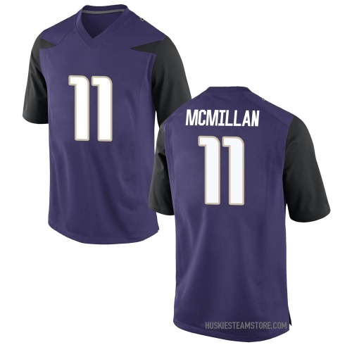 Men's Nike Jalen McMillan Washington Huskies Replica Purple Football College Jersey