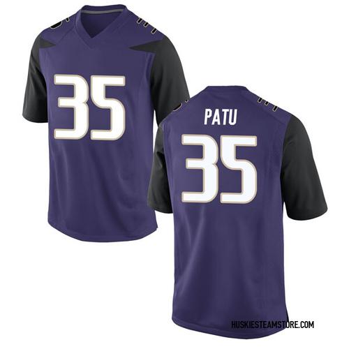 Men's Nike Jamyn Patu Washington Huskies Game Purple Football College Jersey