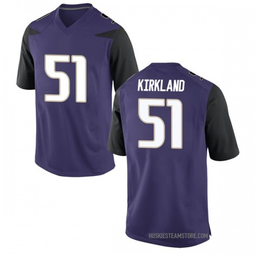 Men's Nike Jaxson Kirkland Washington Huskies Replica Purple Football College Jersey