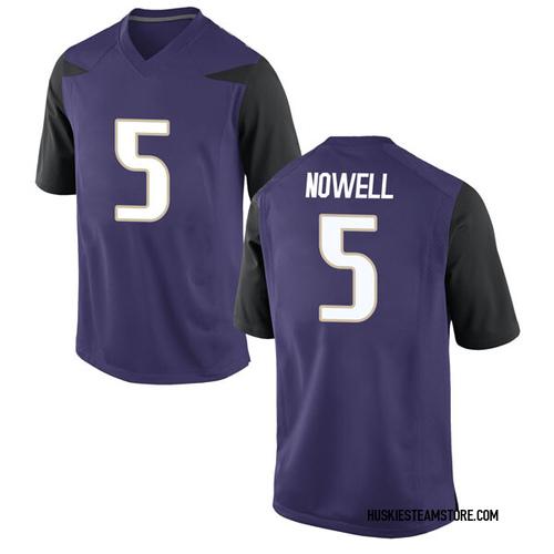 Men's Nike Jaylen Nowell Washington Huskies Game Purple Football College Jersey