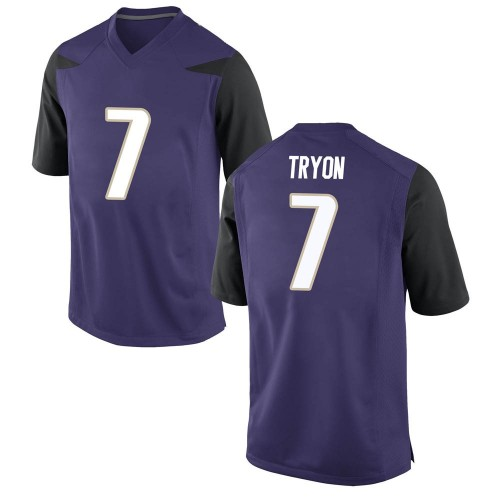 Men's Nike Joe Tryon Washington Huskies Game Purple Football College Jersey