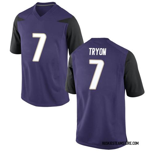 Men's Nike Joe Tryon Washington Huskies Replica Purple Football College Jersey