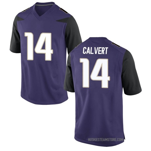 Men's Nike Josh Calvert Washington Huskies Game Purple Football College Jersey