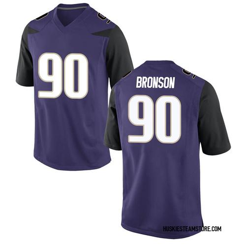 Men's Nike Josiah Bronson Washington Huskies Game Purple Football College Jersey