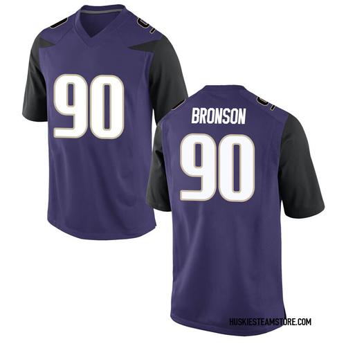 Men's Nike Josiah Bronson Washington Huskies Replica Purple Football College Jersey