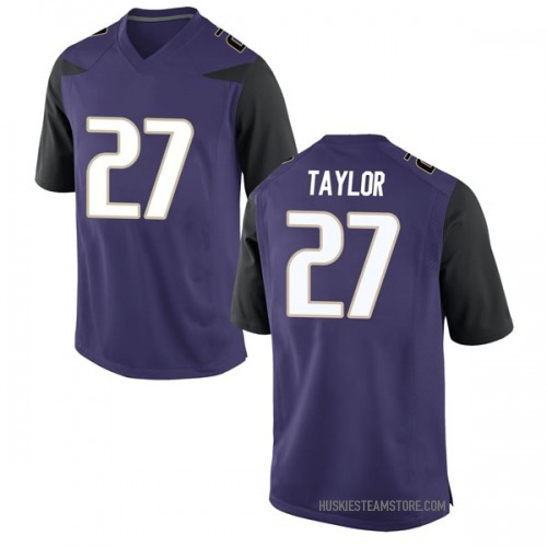 Men's Nike Keith Taylor Washington Huskies Game Purple Football College Jersey