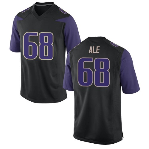 Men's Nike M.J. Ale Washington Huskies Game Black Football College Jersey