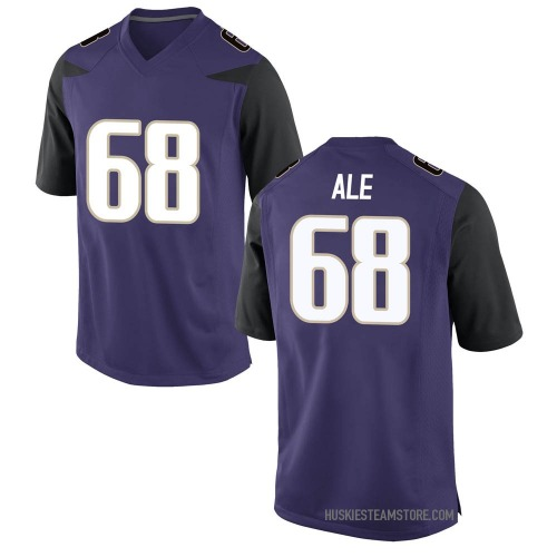 Men's Nike M.J. Ale Washington Huskies Game Purple Football College Jersey