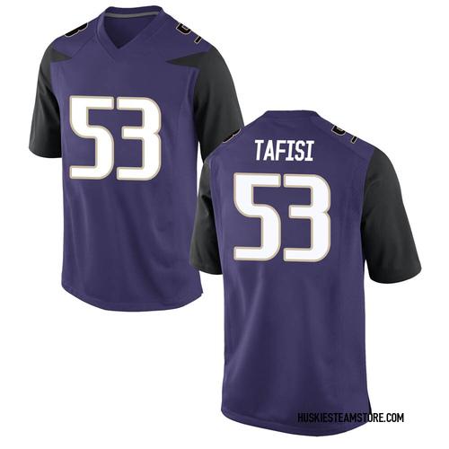 Men's Nike MJ Tafisi Washington Huskies Game Purple Football College Jersey