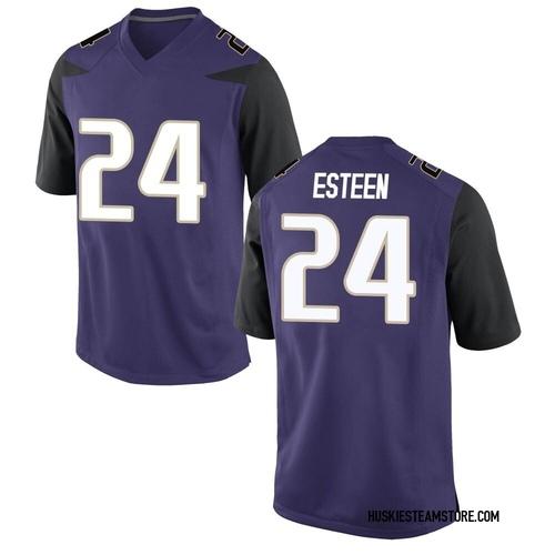 Men's Nike Makell Esteen Washington Huskies Game Purple Football College Jersey