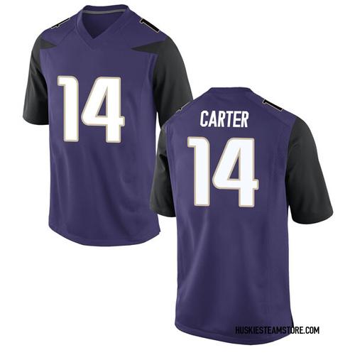 Men's Nike Michael Carter III Washington Huskies Game Purple Football College Jersey