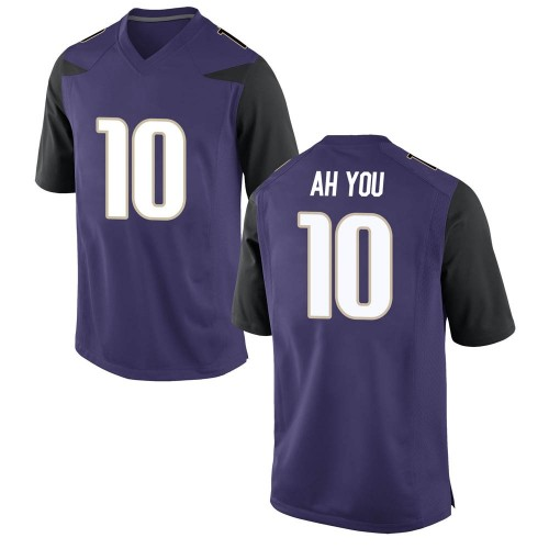 Men's Nike Miki Ah You Washington Huskies Game Purple Football College Jersey