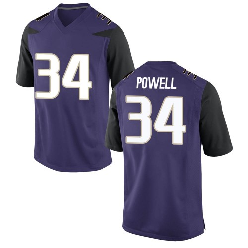 Men's Nike Mishael Powell Washington Huskies Game Purple Football College Jersey