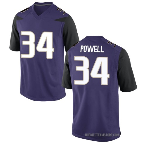 Men's Nike Mishael Powell Washington Huskies Replica Purple Football College Jersey