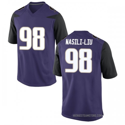 Men's Nike Mosiah Nasili-Liu Washington Huskies Game Purple Football College Jersey