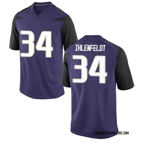 Men's Nike Nate Ihlenfeldt Washington Huskies Replica Purple Football College Jersey
