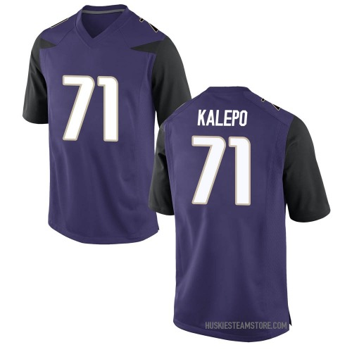 Men's Nike Nate Kalepo Washington Huskies Game Purple Football College Jersey