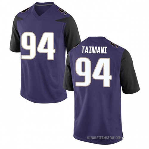 Men's Nike Sam Taimani Washington Huskies Game Purple Football College Jersey