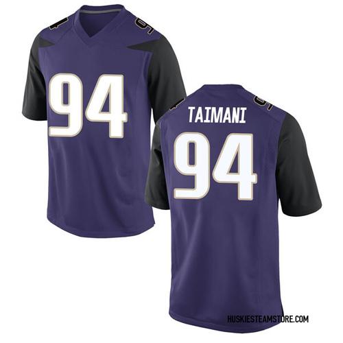 Men's Nike Sam Taimani Washington Huskies Replica Purple Football College Jersey