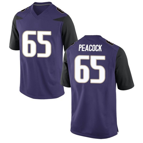 Men's Nike Samuel Peacock Washington Huskies Replica Purple Football College Jersey
