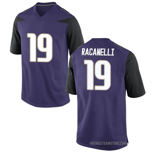 Men's Nike Sawyer Racanelli Washington Huskies Game Purple Football College Jersey