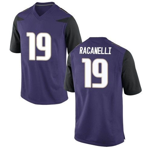 Men's Nike Sawyer Racanelli Washington Huskies Replica Purple Football College Jersey