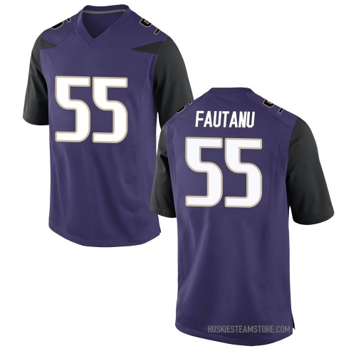 Men's Nike Troy Fautanu Washington Huskies Game Purple Football College Jersey