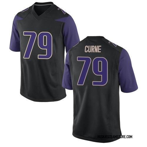 Men's Nike Victor Curne Washington Huskies Game Black Football College Jersey