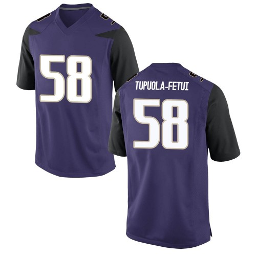 Men's Nike Zion Tupuola-fetui Washington Huskies Game Purple Football College Jersey
