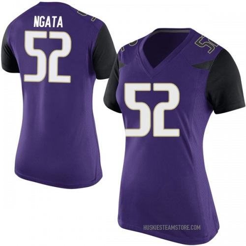 Women's Nike Ariel Ngata Washington Huskies Replica Purple Football College Jersey