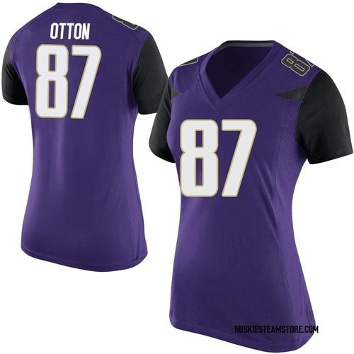 Women's Nike Cade Otton Washington Huskies Game Purple Football College Jersey