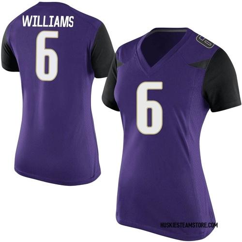 Women's Nike Cameron Williams Washington Huskies Replica Purple Football College Jersey